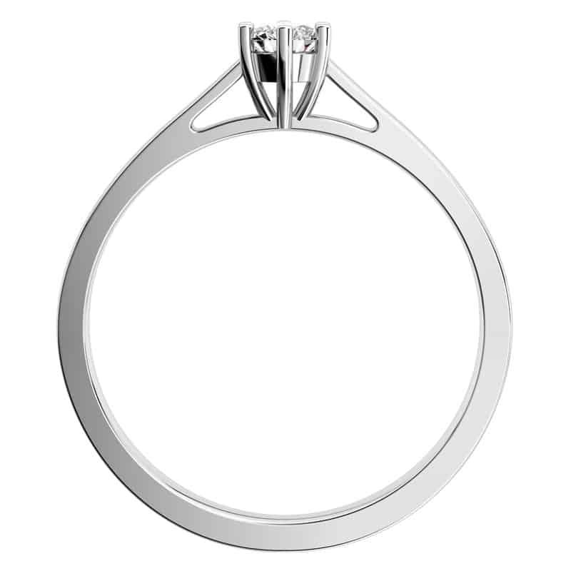 Nádherný zásnubní prsten Helena W Briliant I. z bílého zlata s briliantem za 6 990Kč