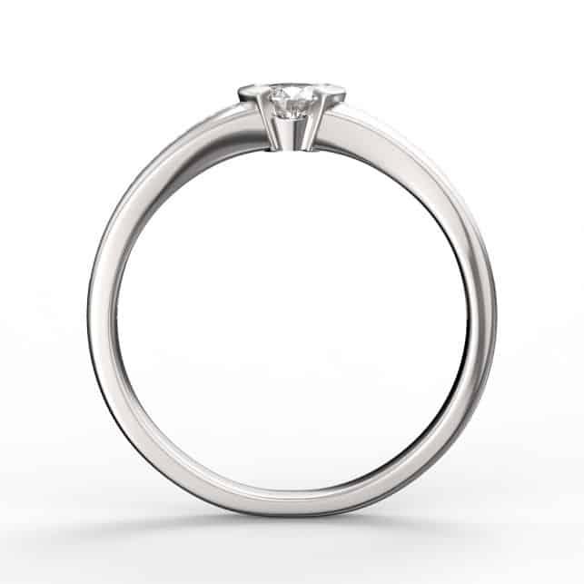 Zásnubní prsten DF 2106 z bílého zlata s briliantem