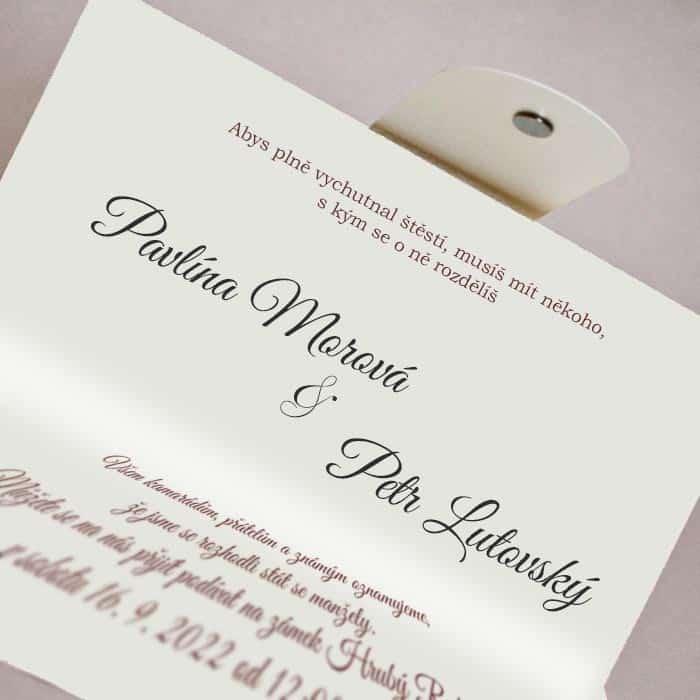 Svatební oznámení na magnet - přírodní motiv - typ 1238