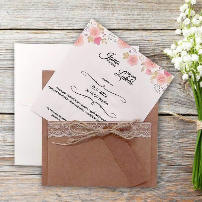 Svatební oznámení - přírodní motiv - typ 5580