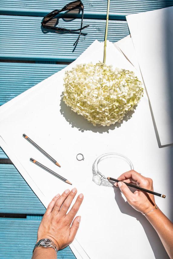 Návrh snubních prstenů na zakázku - Zlatnictví Rýdl 034