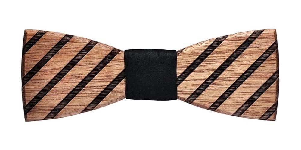 Dřevěný motýlek BeWooden Buteo, mahagon