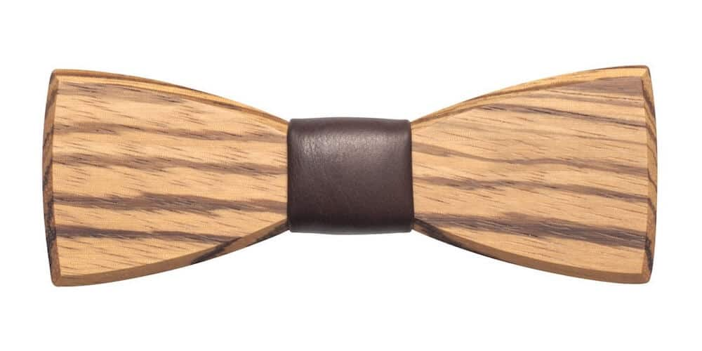 Dřevěný motýlek BeWooden Corra, dřevo zebrano