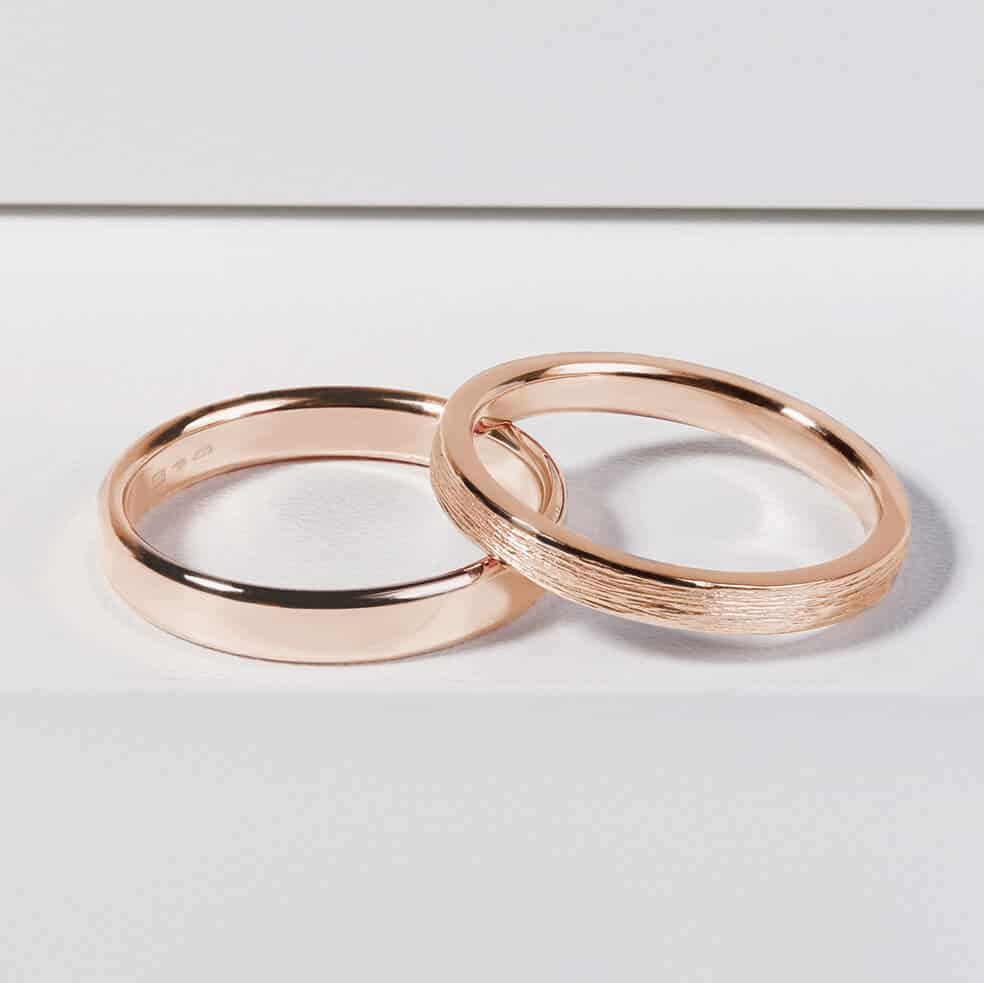 Snubní prsteny růžové zlato zn. Klenota