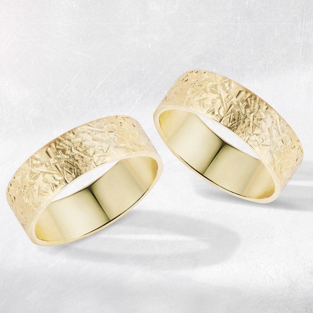 Snubní prsteny pár zlato žluté 2 zn. Klenota