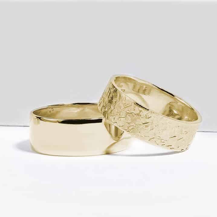 Snubní prsteny pár zlato žluté 1 zn. Klenota