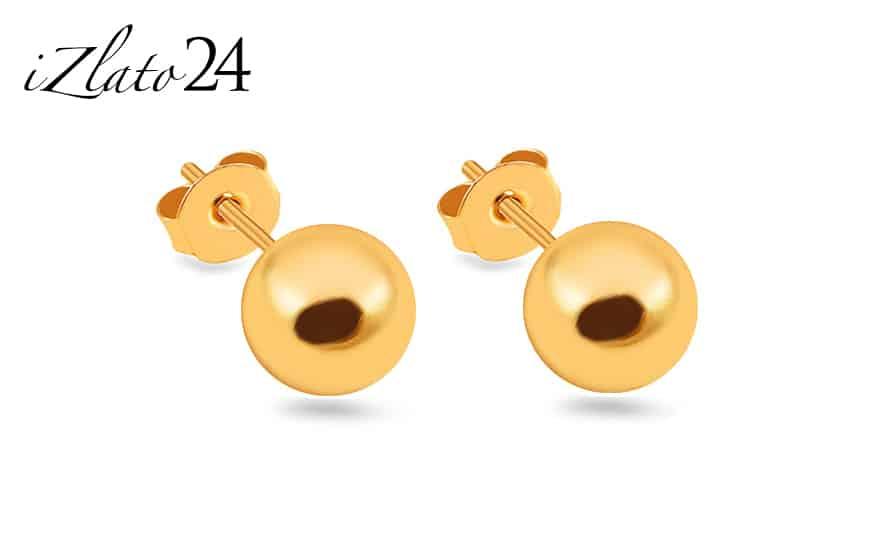 Zlaté pecky náušnice kuličky