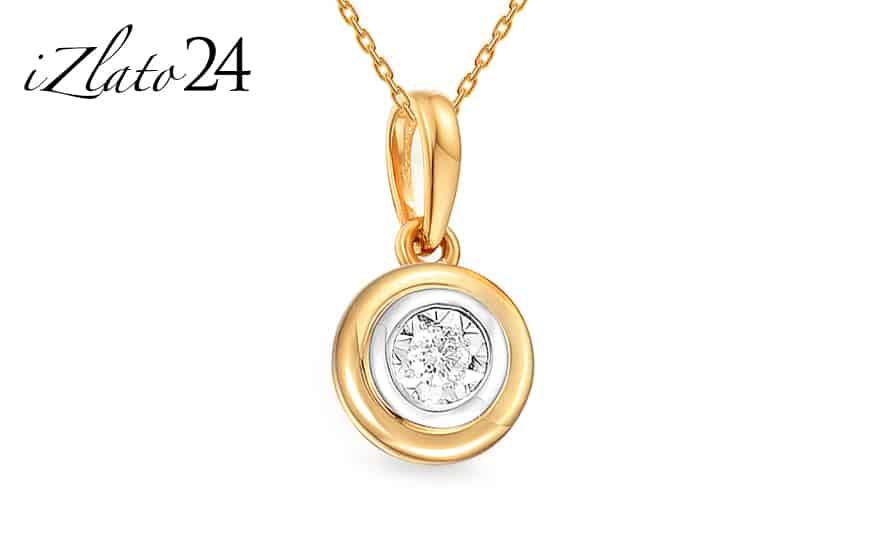Zlatý přívěsek s diamantem Christabel