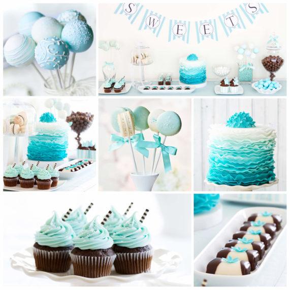 Svatební barvy, tyrkysovo-modrá, sweet bar