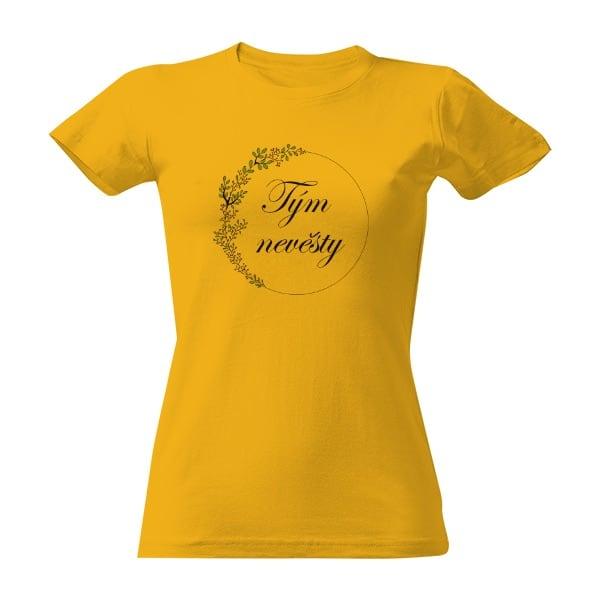 Svatební tričko žluté tým nevěsty