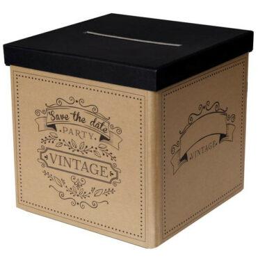Pokladnička svatební přání i peníze ve vintage stylu