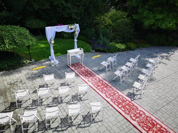 Restaurace Pod Zámkem Průhonice - svatební obřad