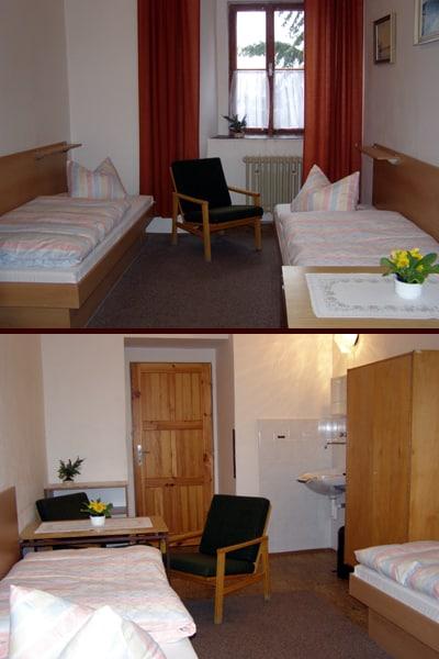 Hotel a Zámecká fara Vidžín - pokoj ve standardu