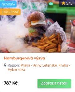 Představte si hamburger, dvojitý hamburger, fakt velký dvojitý hamburger.