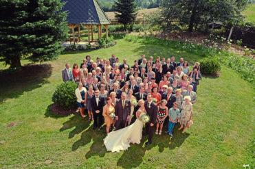 Zámeček Klokočov - společné svatební foto