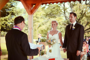 Zámeček Klokočov - svatební řeč při obřadu