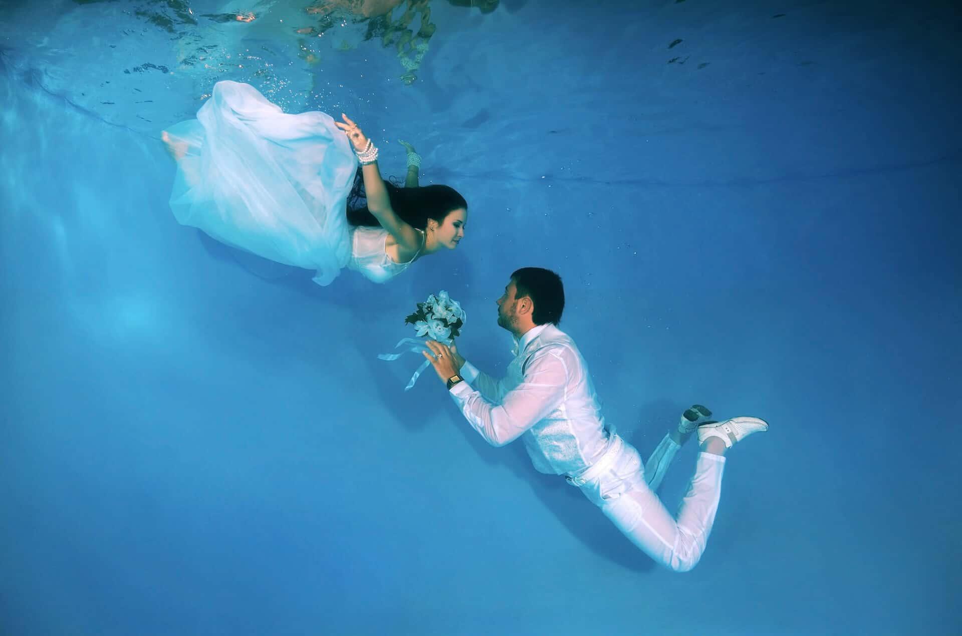 Svatební focení, aneb pod vodou jsme si vyznali lásku beze slov