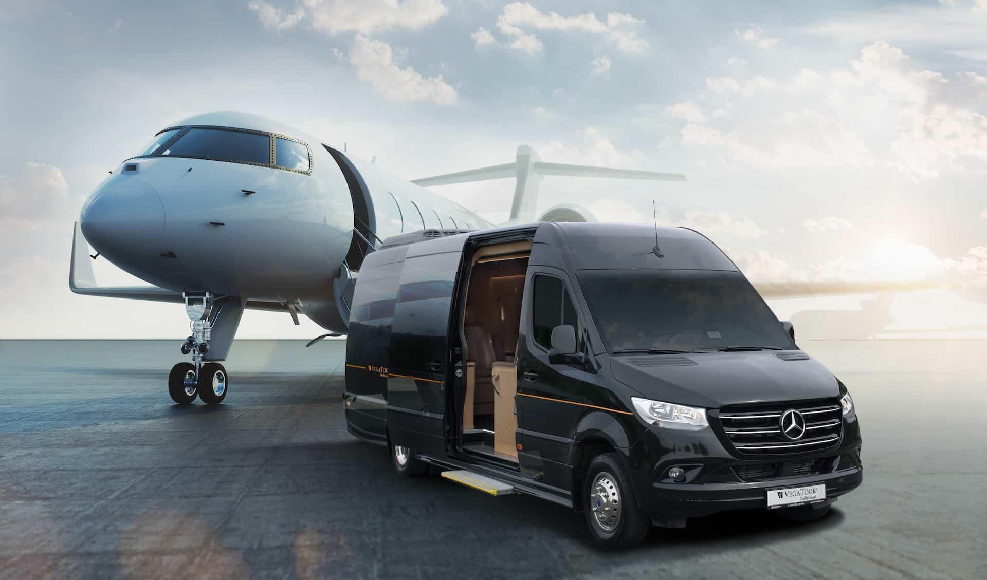 Luxusní all-inclusive limuzínu pro 7 osob na letišti