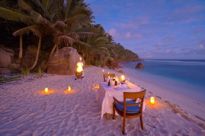 Dovolená snů Privátní večeře při západu slunce