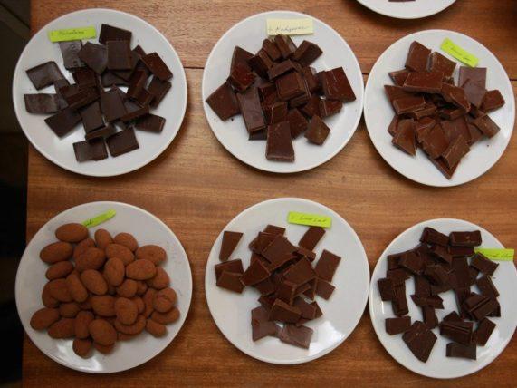 Degustace čokolády pro dva - vzorky