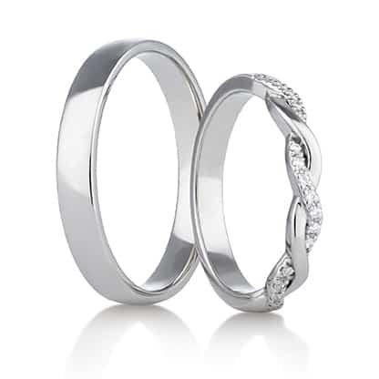 Snubní prsteny Rýdl 293 STIN WHITE E