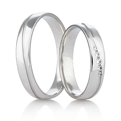 Snubní prsteny Rýdl 421 STIN WHITE E