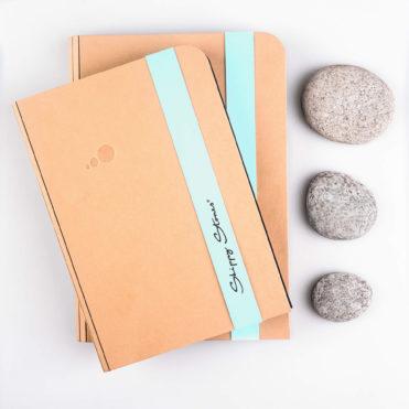 Skippy Stones - 3 přírodní oblázky s knihou