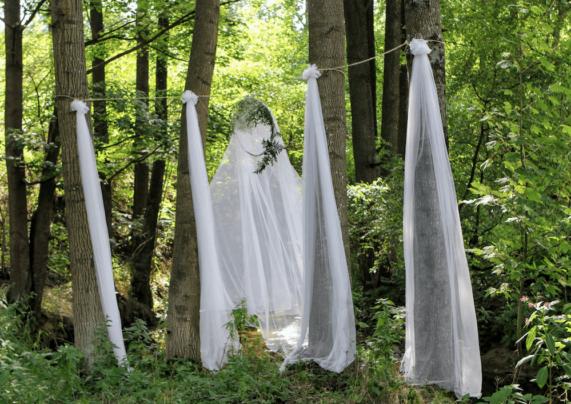Svatba na Váchově mlýně - svatební šaty