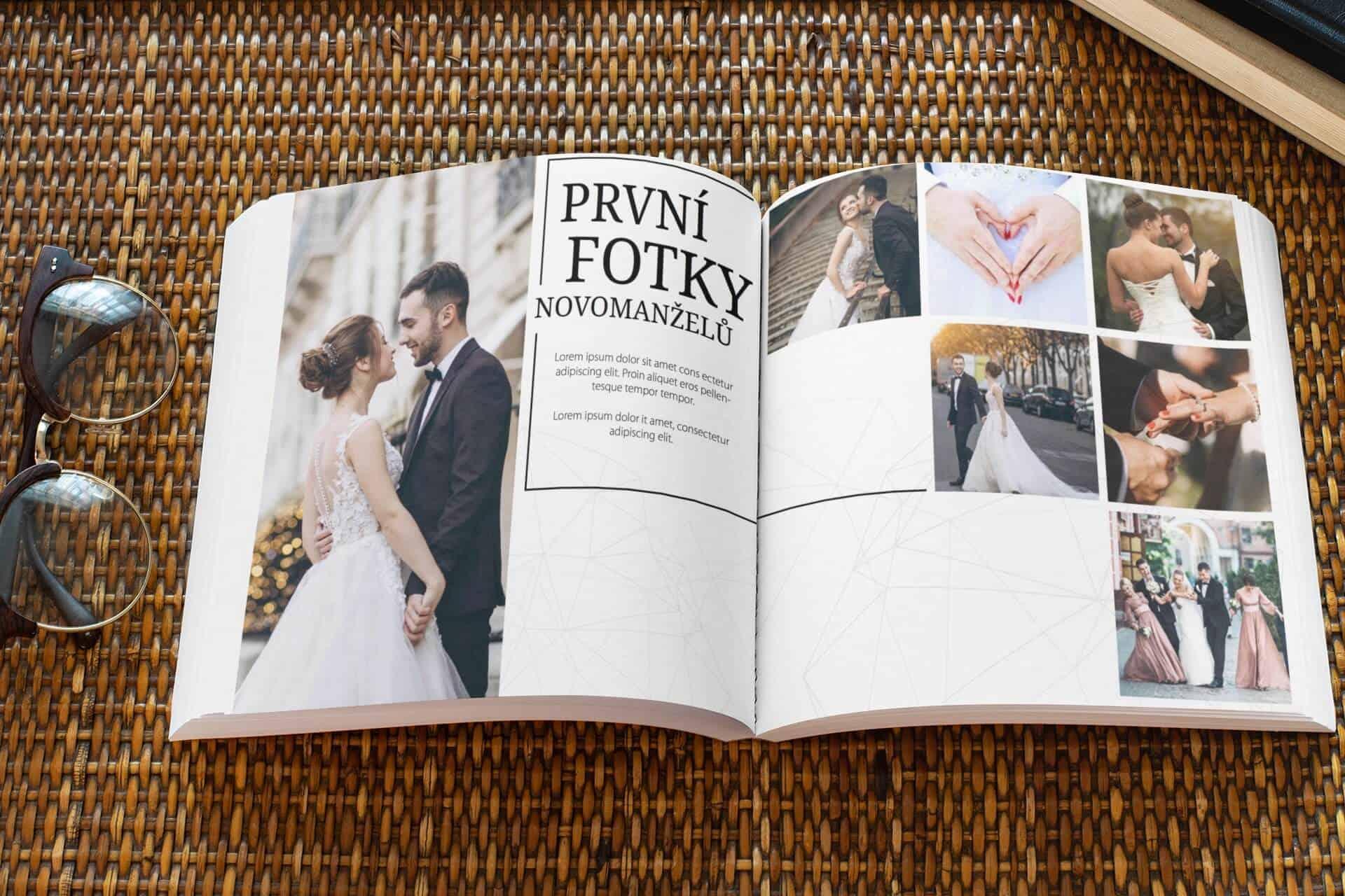 Svatební fotokniha ALTU, první fotky novomanželů