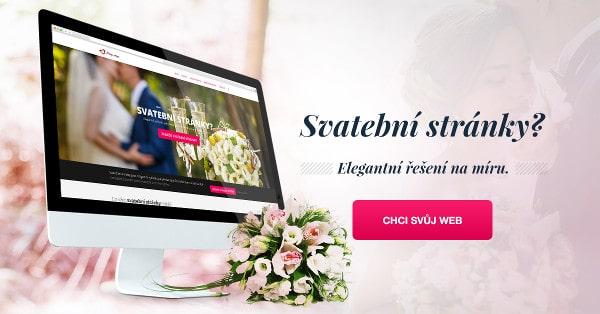 Svatební stránky, elegantní řešení na míru