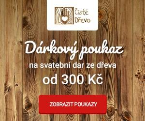 Dárkový poukaz na krásné výrobky ze dřeva