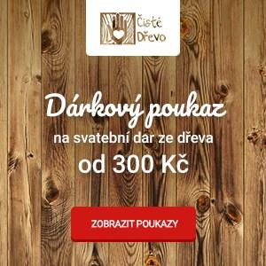 Dárkový poukaz na svatební dar v e-shopu Čisté dřevo