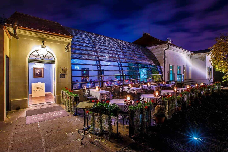 Villa Richter, skleník a venkovní zahrádka