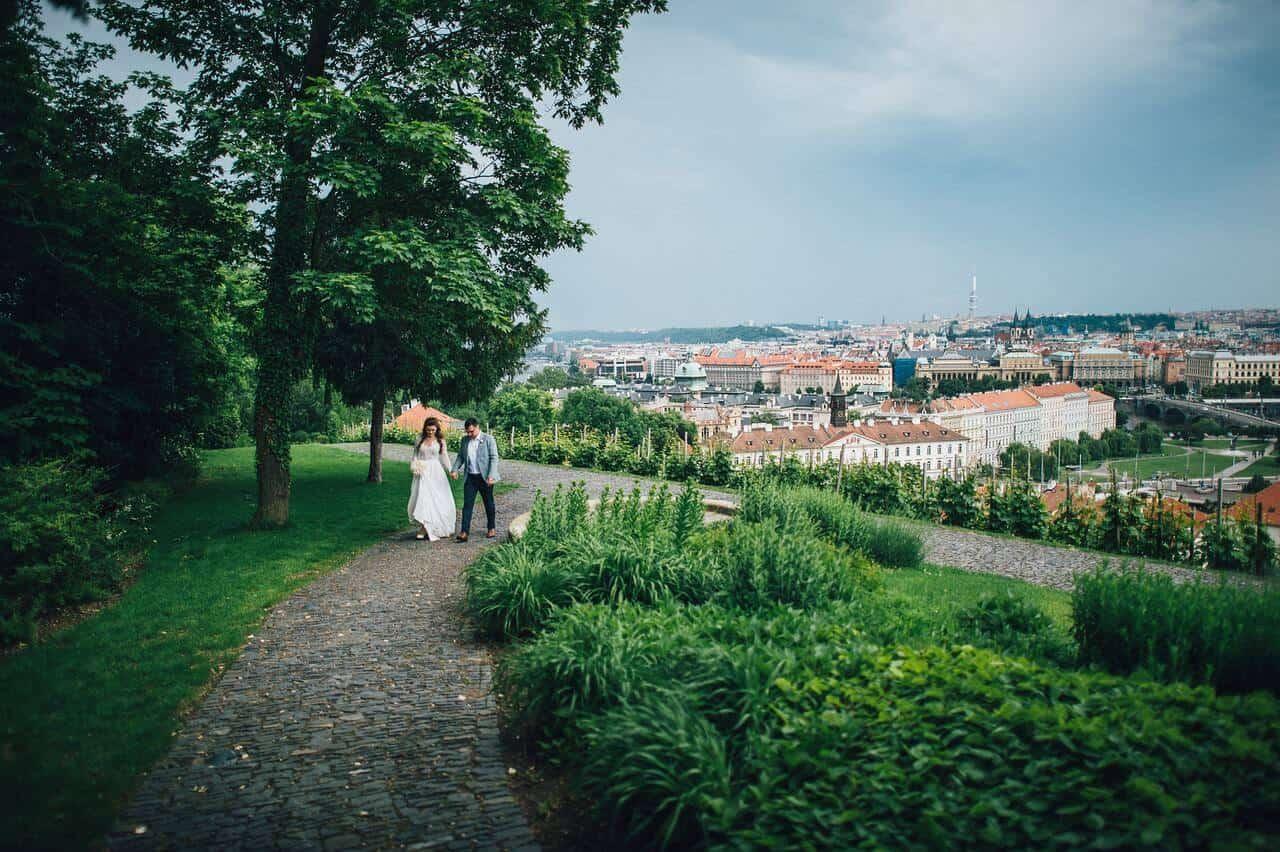 Villa Richter, výhled na Prahu