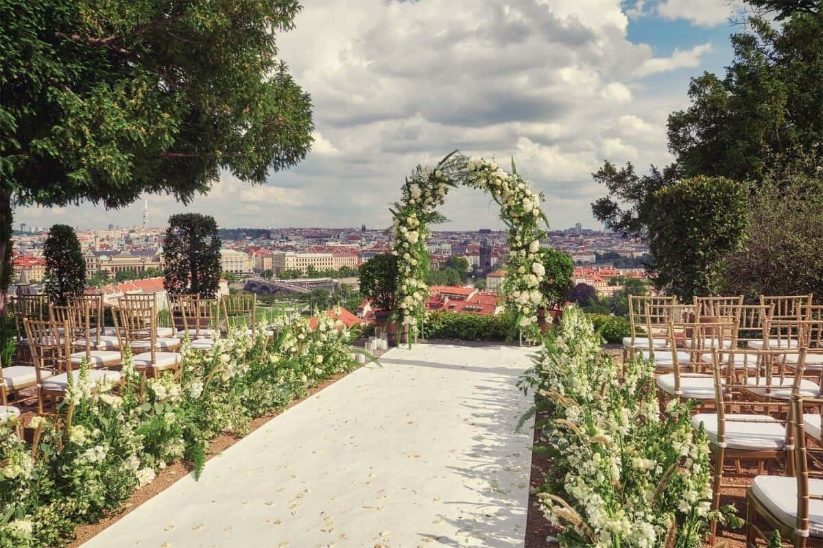 Villa Richter, svatební místo pro obřad s výhledem na Prahu
