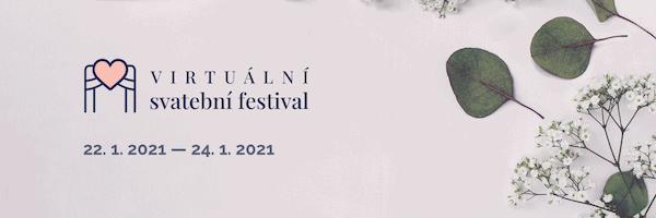 Online svatební festival nebo-li VVSR (Velká Virtuální Svatební Revoluce) 22. - 24. 1. 2021, banner na šířku