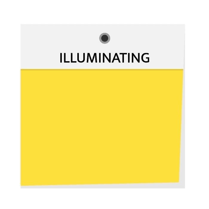 Trendy barva žlutá (illuminating) 2021