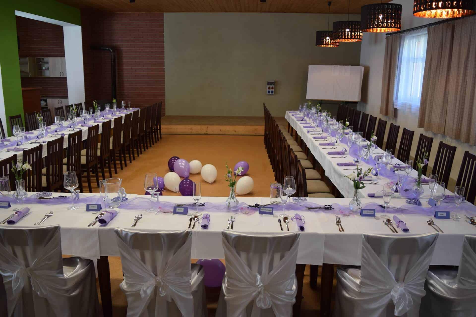 Penzion Slunečno - svatební tabule s balónky