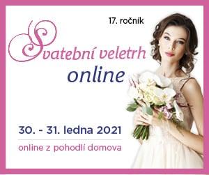 17. ročník Svatebního veletrhu Pardubice ON-LINE, 30. a 31. ledna 2021