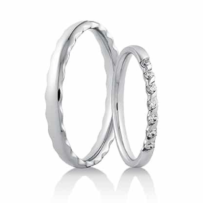 Snubní prsteny 445 bílé zlato 14 karátů