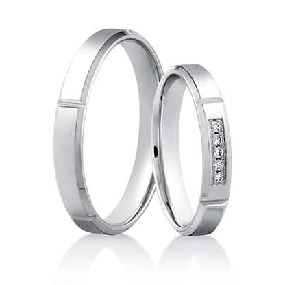 Snubní prsteny 446 bílé zlato 14 karátů